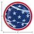 Waving Flag Fourth of July Dessert Plates 96 ct
