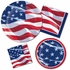 Waving Flag Fourth of July Dinner Plates 96 ct