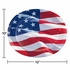 Waving Flag Fourth of July Oval Plates 96 ct