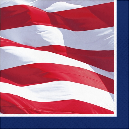 Waving Flag Fourth of July Luncheon Napkins 192 ct