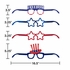 Patriotic Fourth of July Deluxe Paper Eyeglasses 24 ct