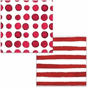 Garnet Dots and Stripes Beverage Napkins 288 ct