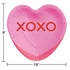 Candy Hearts Valentines Day Shaped Dinner Plates 96 ct