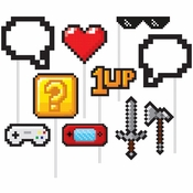 Video Games Party Photo Booth Props 60 ct