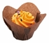 Solid colored greaseproof paper Small Chocolate Lotus Cup 2500 ct bulk case with 10/pkg, 250 pkgs/case.