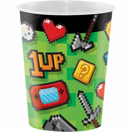 Video Games Party 16 oz Favor Cups 12 ct