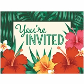 Tropical Flowers Invitations 48 ct