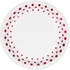 Sparkle and Shine Ruby Foil Luncheon Plates