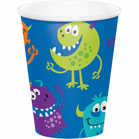 Fun Monsters Paper Cups 96 ct
