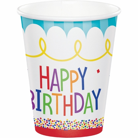 Cake Birthday Paper Cups 96 ct