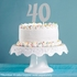 Number 4 Silver Glitter Cake Toppers 12 ct