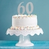 Number 6 Silver Glitter Cake Toppers 12 ct