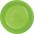 Touch of Color Fresh Lime Plastic Dinner Plates 240 ct in quantities of 20 / pkg, 12 pkgs / case