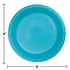 Touch of Color Bermuda Blue Plastic Dinner Plates 240 ct in quantities of 20 / pkg, 12 pkgs / case