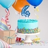 Blue 4 Number Balloons Cake Toppers 12 ct