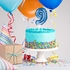 Blue 9 Number Balloons Cake Toppers 12 ct
