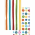 Multicolor Dots and Stripes Guest Towels 192 ct