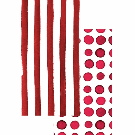 Garnet Dots and Stripes Guest Towels 192 ct