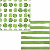 Verdi Dots and Stripes Beverage Napkins 288 ct
