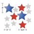 Patriotic Cutouts with Glitter 144 ct