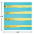 Bermuda Blue and Gold Foil Striped Luncheon Napkins 192 ct