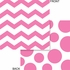 Candy pink and white Chevron and Polka Dots Luncheon Napkins measure 6.375 inches and are sold in quantities of 16 / pkg, 12 pkgs / case