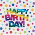 Rainbow Foil Birthday Luncheon Napkins 192 ct