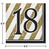 Black and Gold 18th Birthday Luncheon Napkins 192 ct