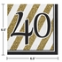 Black and Gold 40th Birthday Luncheon Napkins 192 ct