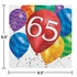 Balloon Blast 65th Birthday Luncheon Napkins 192 ct