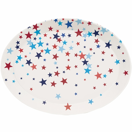 Patriotic Fourth of July Plastic Trays 12 ct