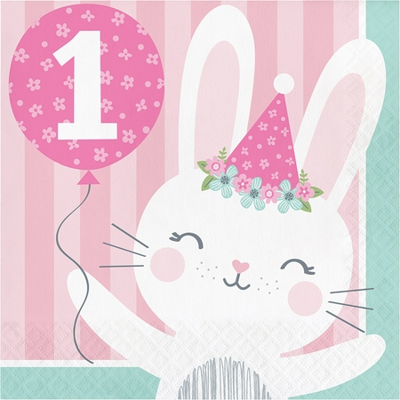 Bunny Party 1st Birthday Luncheon Napkins 192 ct