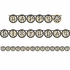 Black and Gold Ribbon Banners 6 ct