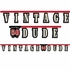 """Vintage Dude Party Banner """"50"""" 12 ct"""