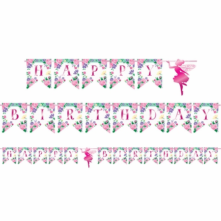 Floral Fairy Sparkle Banners 12 ct