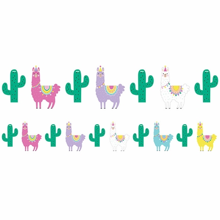 Llama Party Banners 6 ct