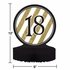 Black and Gold 18th Birthday Centerpieces 6 ct