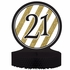 Black and Gold 21st Birthday Centerpieces 6 ct
