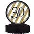 Black and Gold 30th Birthday Centerpieces 6 ct