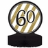 Black and Gold 60th Birthday Centerpieces 6 ct