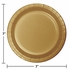 Touch of Color Glittering Gold Dessert Plates in quantities of 24 / pkg, 10 pkgs / case