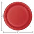 Touch of Color Classic Red Dessert Plates in quantities of 24 / pkg, 10 pkgs / case