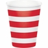 Red Polka Dots and Stripes Paper Cups 96 ct