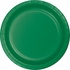 Touch of Color Emerald Green Dessert Plates in quantities of 24 / pkg, 10 pkgs / case