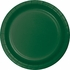 Touch of Color Hunter Green Dessert Plates in quantities of 24 / pkg, 10 pkgs / case