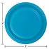 Touch of Color Turquoise Dessert Plates in quantities of 24 / pkg, 10 pkgs / case