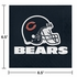 Orange and blue Chicago Bears Luncheon Napkins are sold 16 / pkg, 12 pkgs / case