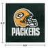 Green and gold Green Bay Packers Luncheon Napkins are sold 16  / pkg, 12 pkgs / case