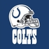 Blue and white Indianapolis Colts Luncheon Napkins sold in quantities of 16 / pkg, 12 pkgs / case