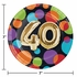 Balloons 40th Birthday Dessert Plates 96 ct